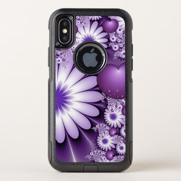 Falling in Love Abstract Flowers & Hearts Fractal OtterBox Commuter iPhone X Case
