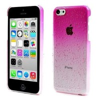 iPhone 5C Raindrop Case Snap Cover Pink Clear+2 LCD Screen Protectors