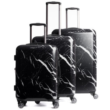 Astyll 3-Piece Luggage Set in Midnight Marble