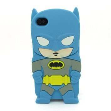 PEAPIX3 Universal Trading Superheroes & Superman series Design Cartoon Silicone case For Iphone 5C(Batman Blue) = 1946432900