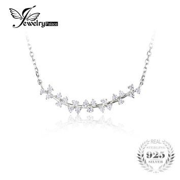 JewelryPalace 925 Sterling Silver Clover Chain Pendant Collar Necklace 18 Inches for Women Fine Jewelry