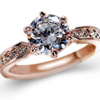 Crystals Zircon Engagement Rings For Women