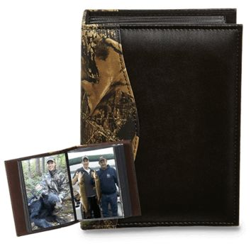 CAMO LEATHER Small Photo Album