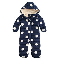 crewcuts Baby Puffer Snowsuit In Polka Dot