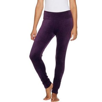 Double Plush Velour Leggings By Cuddl Duds