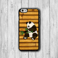 Bamboo Cute PANDA Wood iPhone 6 Cases,Chinese Animal Cartoon iPhone 5S, iPhone 4, iPhone 4S Hard Case, Rubber Covers Deco Accessorie Cover