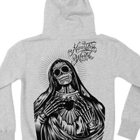 "Women's ""Señora Negra"" Pullover Hoodie by Iron Fist (Grey)"