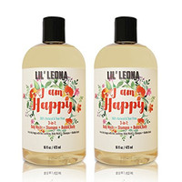 3-in-1 Tearless Baby Shampoo Body Wash and Bubble Bath Set - 32 oz- By Lil Leona
