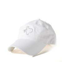 White and Grey Texas Hat