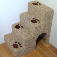 "24"" tall x16"" wide x 24"" deep Dog steps, pet stairs. For small dogs or cats."