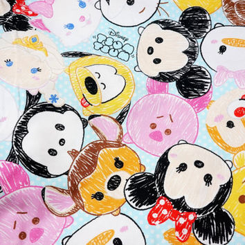 Special Offer 1 yard Disney Character  Disney tsum tsum fabric Print
