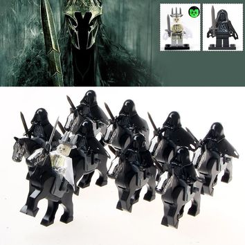 18pcs/lot Ring Witch-king of Angmar Wraith Lord of the Rings Attack on Wethertop Army Building Blocks Model Gifts Children Toys
