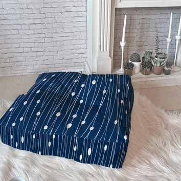 Heather Dutton Navy Entangled Floor Pillow Square