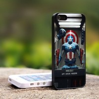Captain America CPT Steve Rogers - For iPhone 5 Black Case Cover