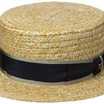 Men's Raffia Straw Boater Hat