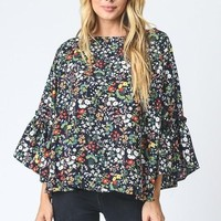 Lucky Ditsy Floral Blouse