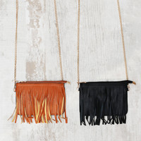 Fringe Me Up Purse in Black