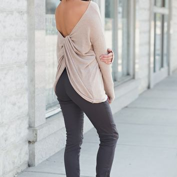 Lavelle Knot Top (Taupe)