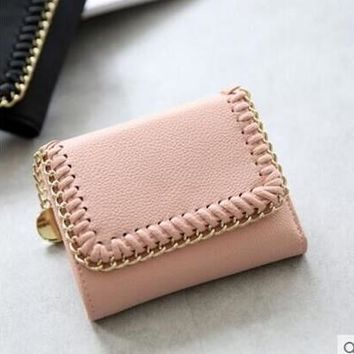 Women wallets long purses large big coin purse for girls designer brand high quality card holder hollow out  metal circle