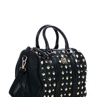 Star Studded Faux Leather Handbag