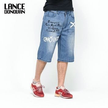Men's HIP HOP Style Harlan Straight Loose Fit Jeans by Lance Donovan
