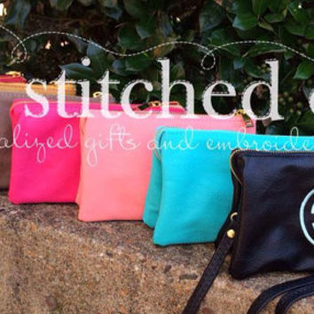Monogram Crossbody Bag - Wristlet or clutch - Great for Vacation or just around time