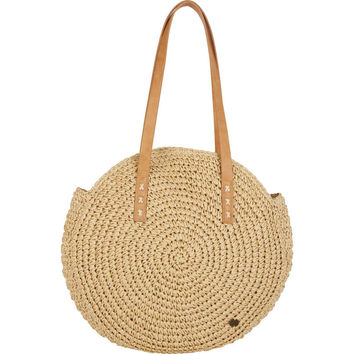 ROUND ABOUT STRAW TOTE BAG