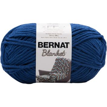 Bernat Blanket Yarn Coastal Collection Lapis Blue 300 Gram Skeins