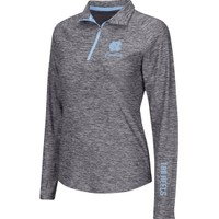 Colosseum Athletics Women's North Carolina Tar Heels Heathered Grey Studio III Half-Zip Long Sleeve Performance Shirt | DICK'S Sporting Goods