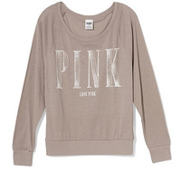 Long Sleeve Raglan Tee - PINK - Victoria's Secret