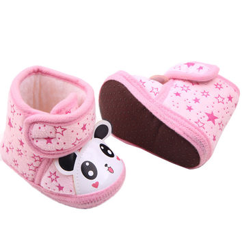 0-12Months Baby Girl Newborn Winter Warm Boots Toddler Soft Sole Crib Shoes