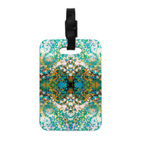 "Nikposium ""Summer Breeze"" Blue Teal Decorative Luggage Tag"