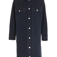 MOTO Denim Borg Duster Coat