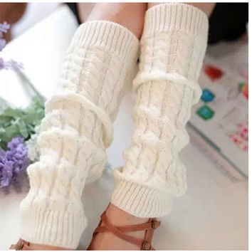 On Sale Hot Deal Socks Winter Lovely Knit Slim Boots [9791300431]