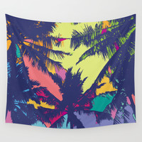 Palm tree Wall Tapestry by PINT GRAPHICS