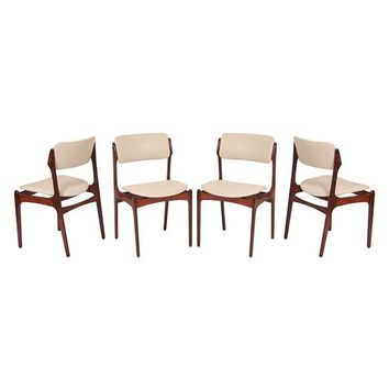 Pre-owned Erik Buck Danish Rosewood Dining Chairs - Set of 4