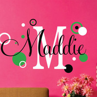 Childrens Wall Decal  LARGE SIZE Baby name Wall Decal  by LucyLews