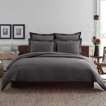 Real Simple® Clip N Zip Pillow Sham in Charcoal