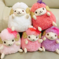 Wooly the Sheep from the Amuse Company who produce arpakasso alpacasso (16cm)