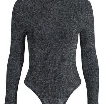Turtleneck Skinny Long Sleeve Turtleneck Bodysuit