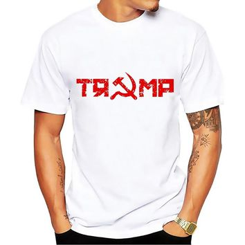 trump and russia funny t shirt men JOLLYPEACH BRAND summer new white casual plus size homme tshirt no glue print