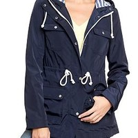 Women's Hooded Jersey-Lined Raincoats | Old Navy