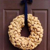 Burlap Wreath for Front Door or Mantle