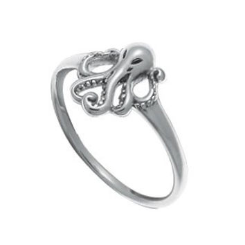 Boma Sterling Silver Octopus Ring, Size 6