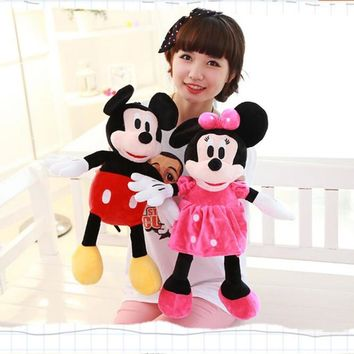 1pc 50cm Classical Plush Toy Stuffed Animal Mickey And Minnie Mouse Stuffed Doll For Children's Gift Christmas Gift