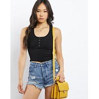 Maya Snap Crop Top