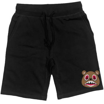Cinnamon Baws PATCH Black French Terry Shorts