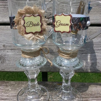 New!! Personalized Camo Hillbilly wineglasses! They are here in addition to our new style called Classy Glass