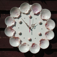 Wall Clock Sea Gifts, nautical wall clock, shells clock, decorative wall clocks, modern wall clock, unusual wall clocks, unique wall clocks