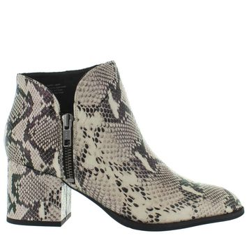 Seychelles Chaparral - Black/White Python Leather Western Bootie